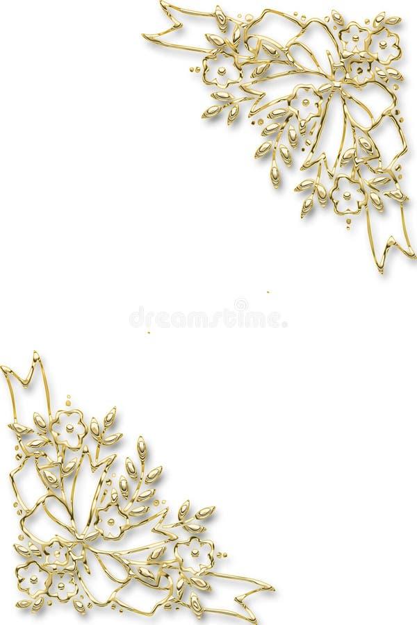 trame florale d'or illustration de vecteur
