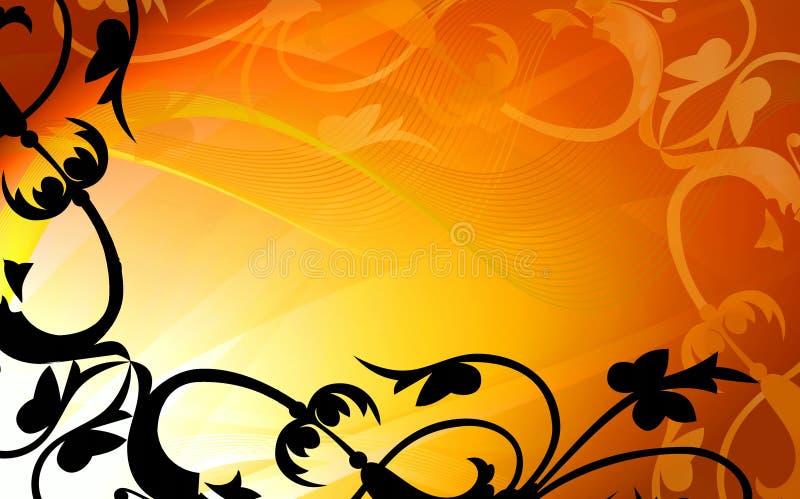 Trame florale d'or d'abstraction illustration libre de droits