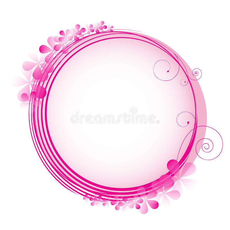 Trame florale de cercle illustration stock