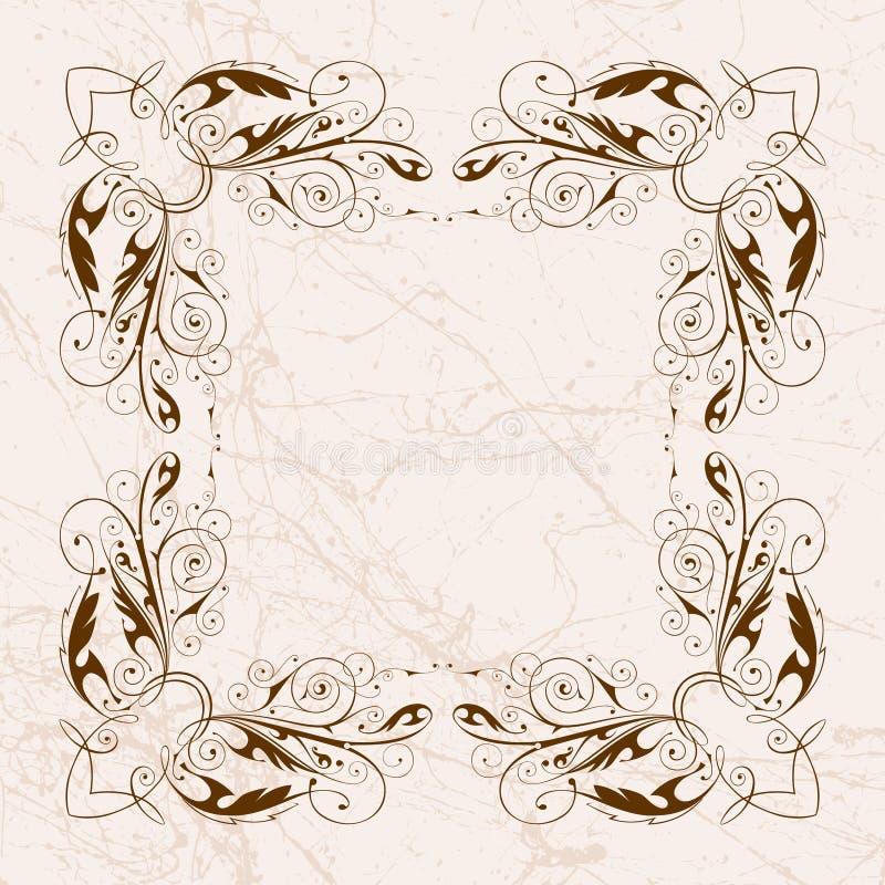 Trame florale de cru illustration de vecteur