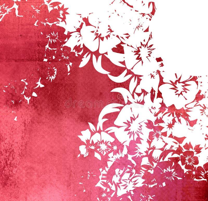 Trame florale de milieux de type illustration stock