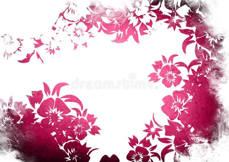 Trame florale de milieux de type illustration libre de droits