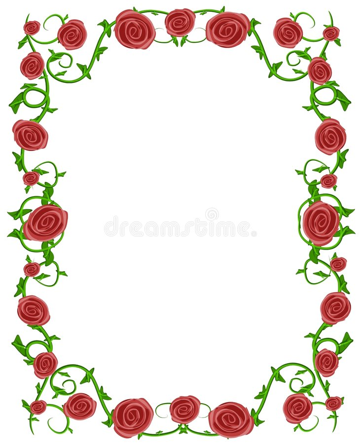 Trame florale de photo de roses rouges illustration libre de droits