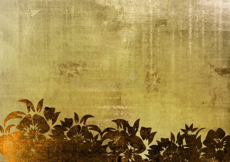 Trame florale de type illustration stock