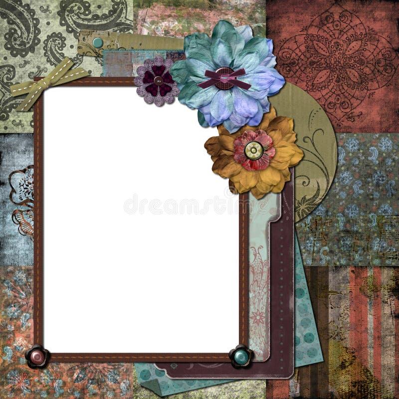Trame florale gitane de Bohème illustration de vecteur