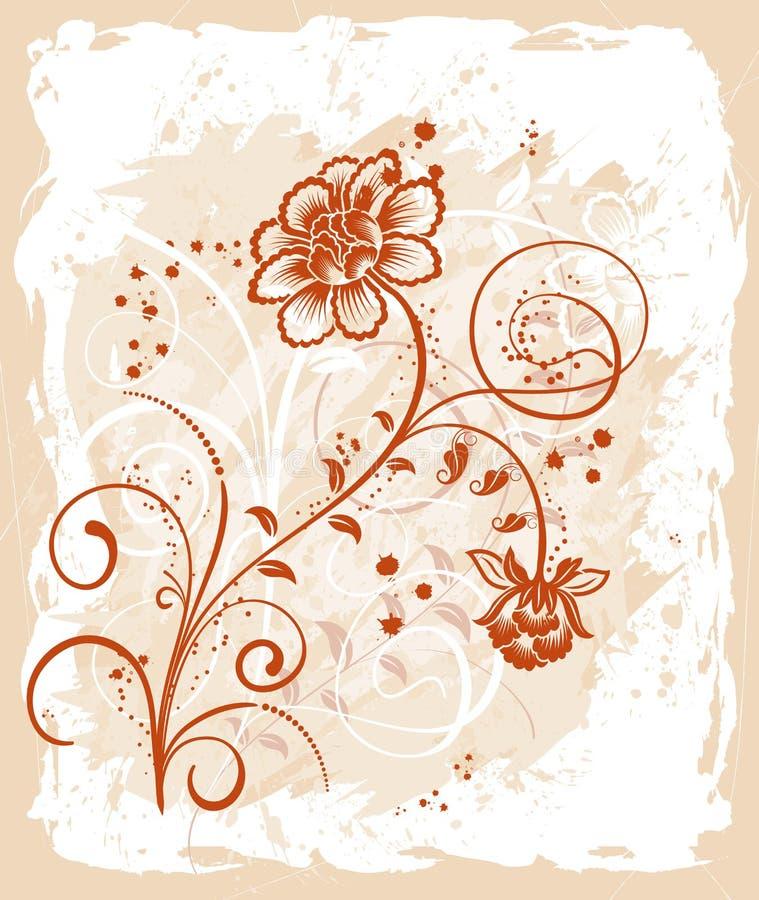 Trame florale grunge illustration de vecteur