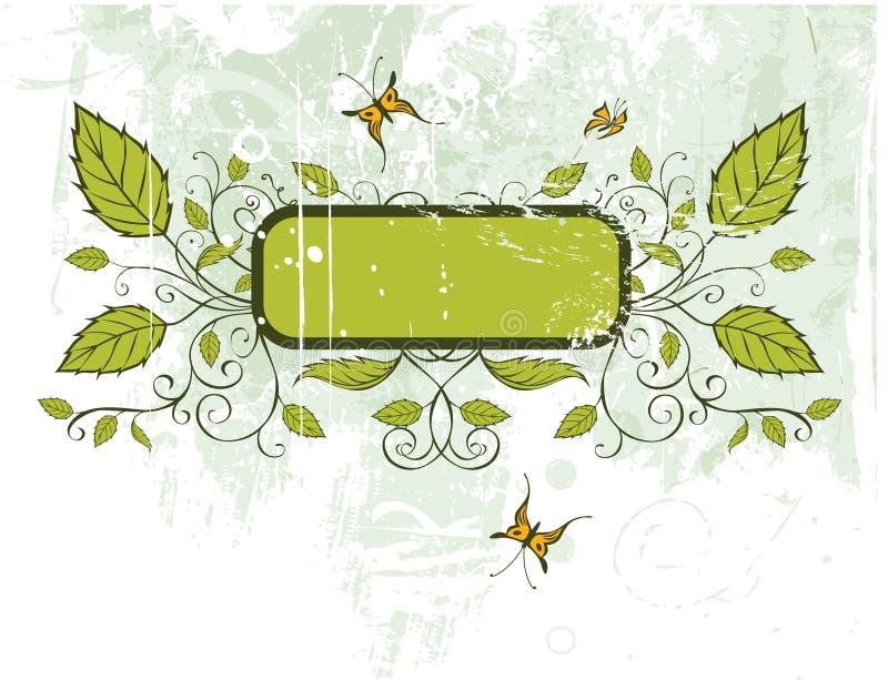 Trame florale grunge de vecteur illustration de vecteur