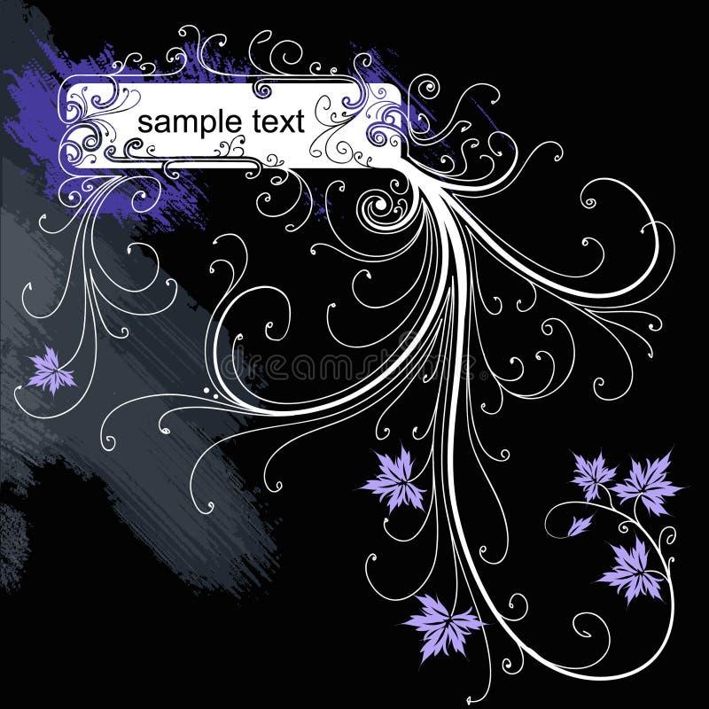 Trame florale grunge de vecteur illustration stock