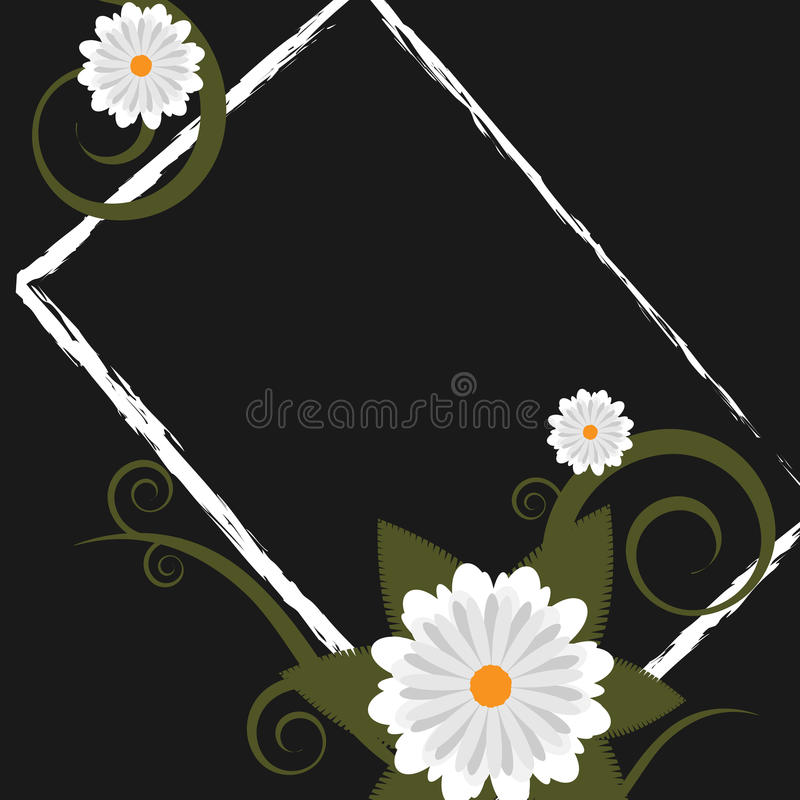 Trame florale grunge - vecteur illustration stock