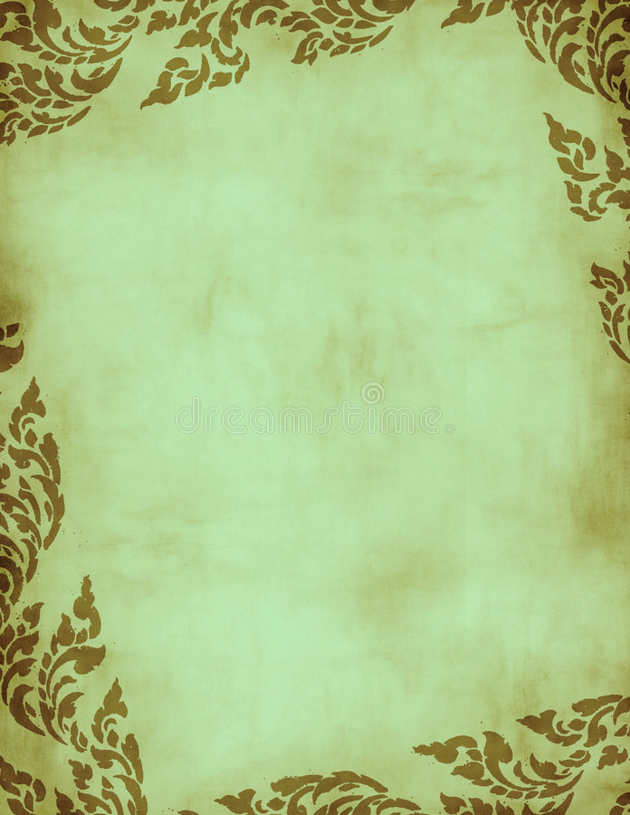 Trame florale grunge verte illustration libre de droits
