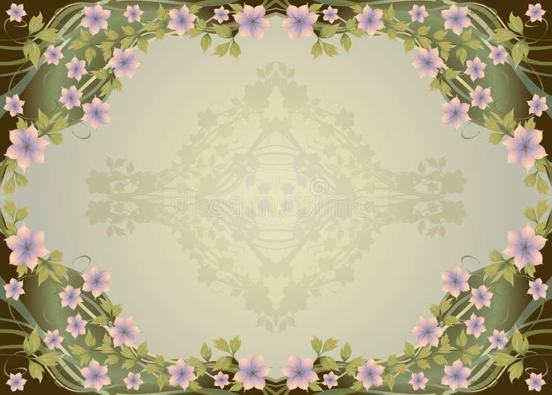 Trame florale ornementale illustration libre de droits