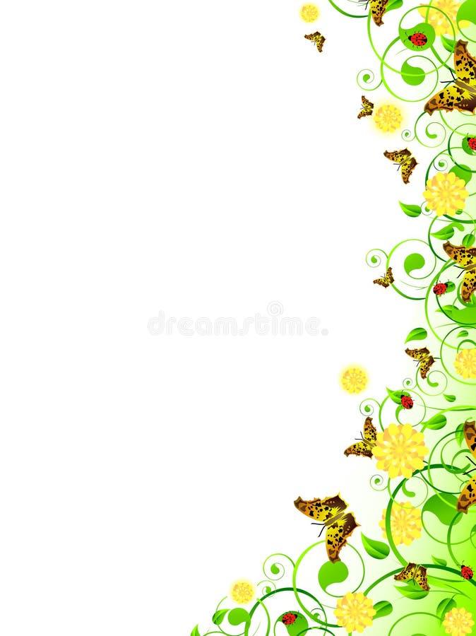 Trame florale verticale illustration de vecteur