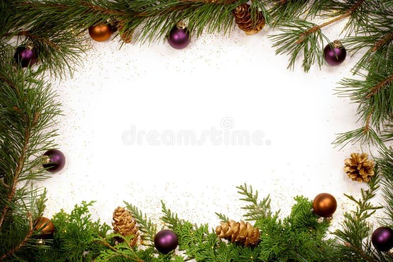 Trame Glittery de feuillage de Noël images stock