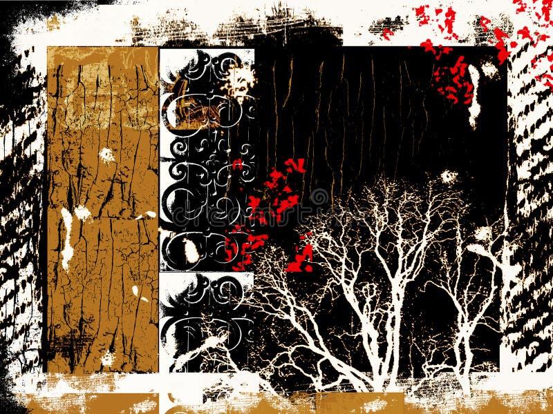 Trame grunge artistique avec un bon nombre d'espace de groupe et de copie illustration stock