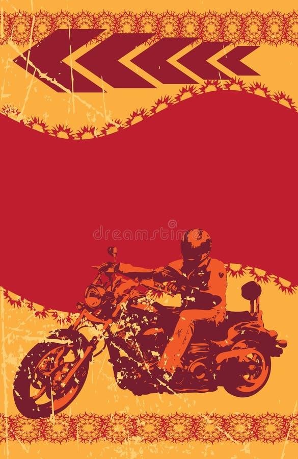 Trame grunge de cycliste illustration de vecteur