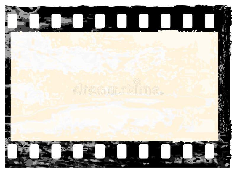 Trame grunge de filmstrip illustration de vecteur
