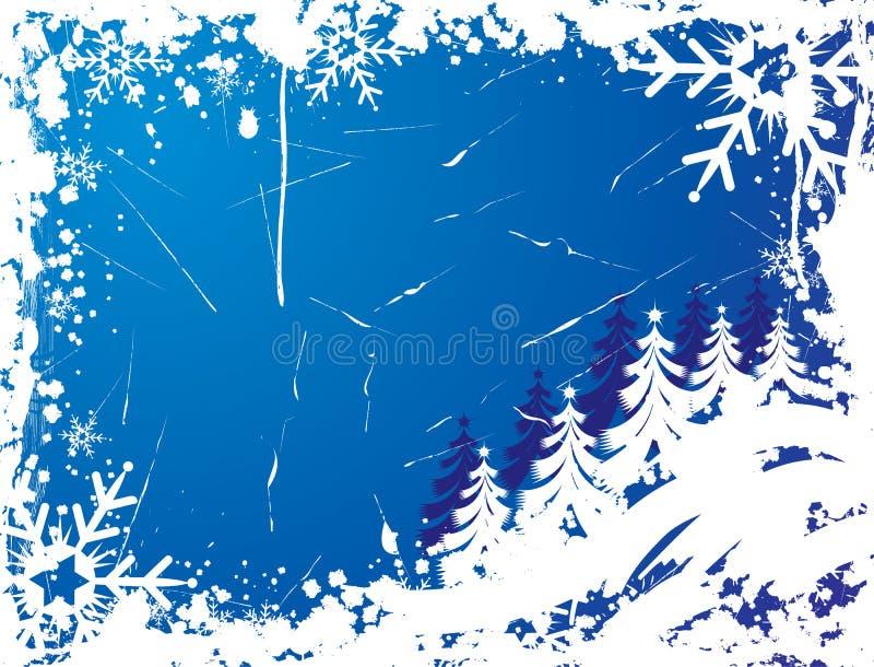Trame grunge de flocon de neige, éléments pour la conception, vecteur illustration libre de droits