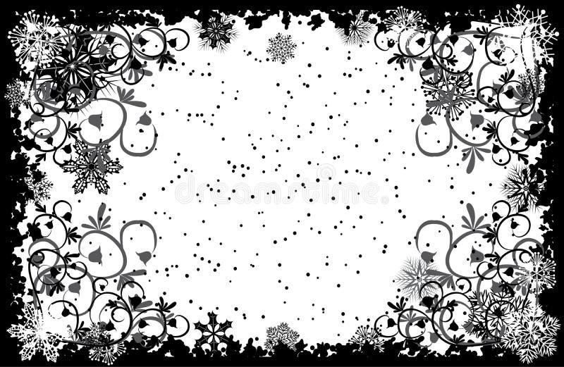 Trame grunge de flocons de neige, vecteur illustration libre de droits