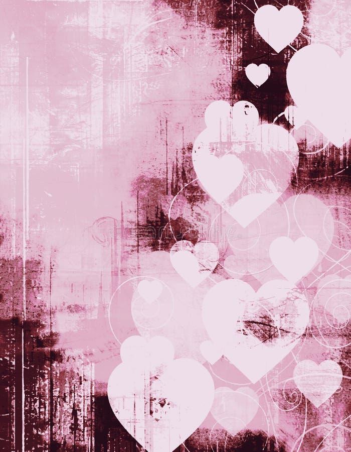 Trame grunge de valentine de cru illustration stock