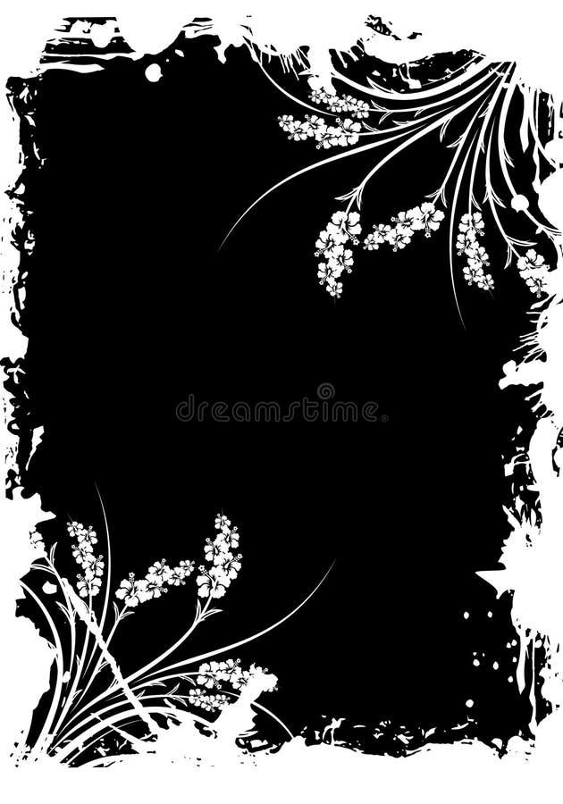 Trame grunge florale abstraite illustration de vecteur