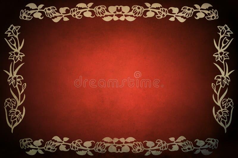 Trame grunge rouge illustration stock