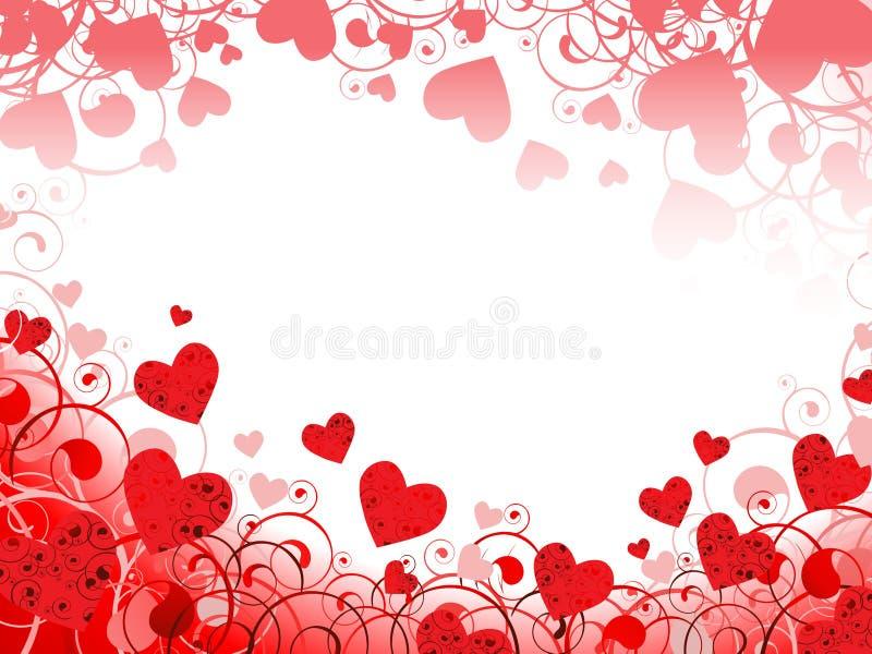 Trame horizontale de coeur illustration de vecteur