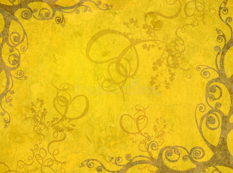Trame jaune illustration libre de droits