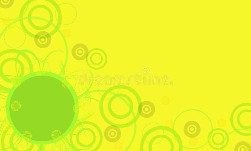 Trame jaune avec le cercle vert illustration de vecteur