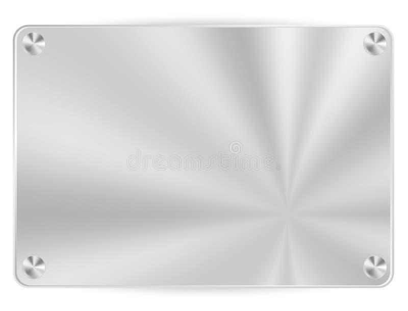 Trame métallique de vecteur illustration stock