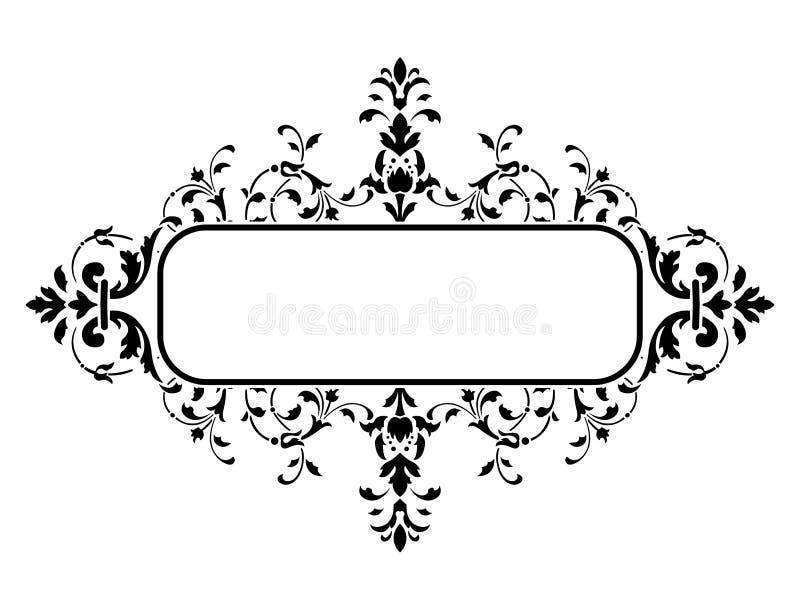 Trame noire avec la décoration florale, illustration de vecteur illustration libre de droits
