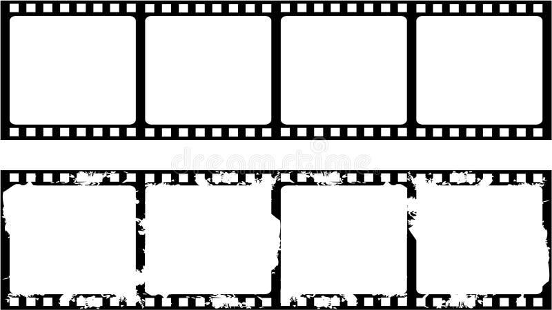 Trame nouvelle et âgée de filmstrip illustration de vecteur