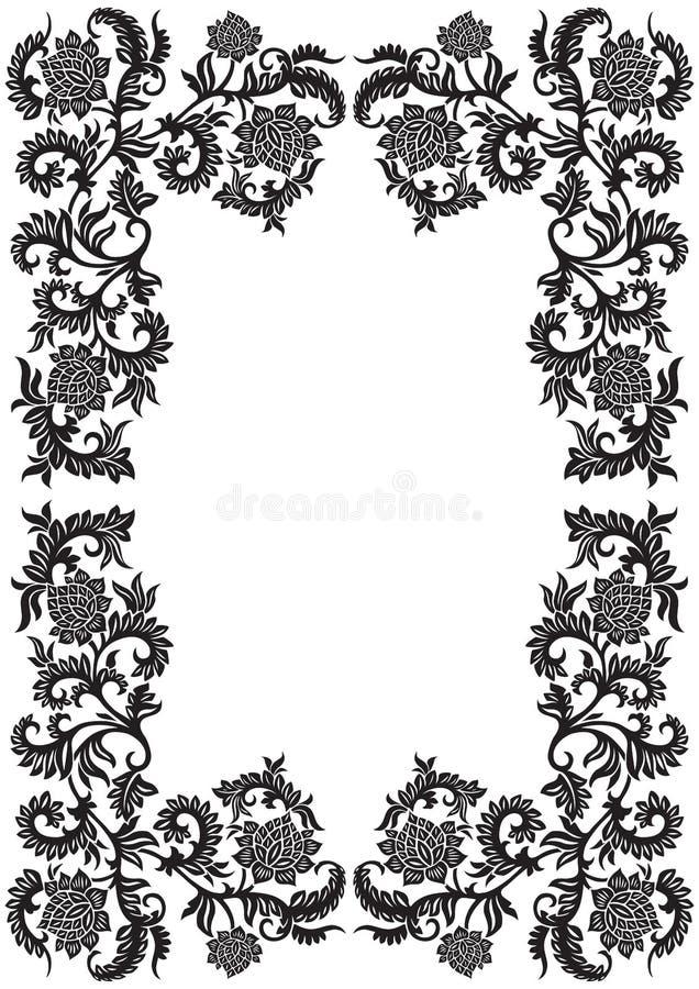 Trame ornementale décorative abstraite avec la fleur, illustr de vecteur illustration stock