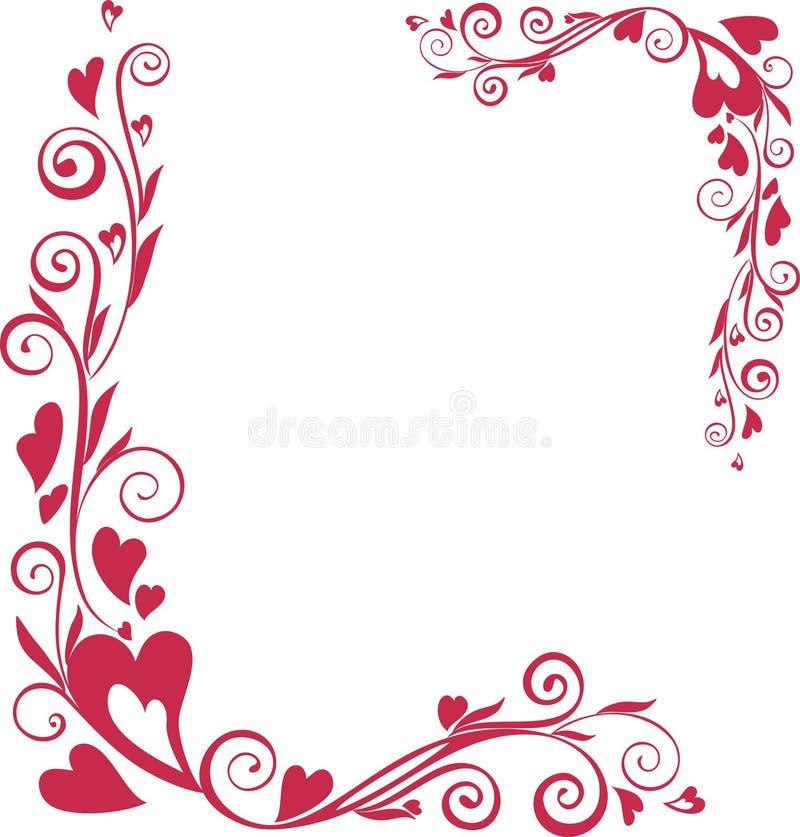 Trame ornementale du jour de valentine illustration libre de droits
