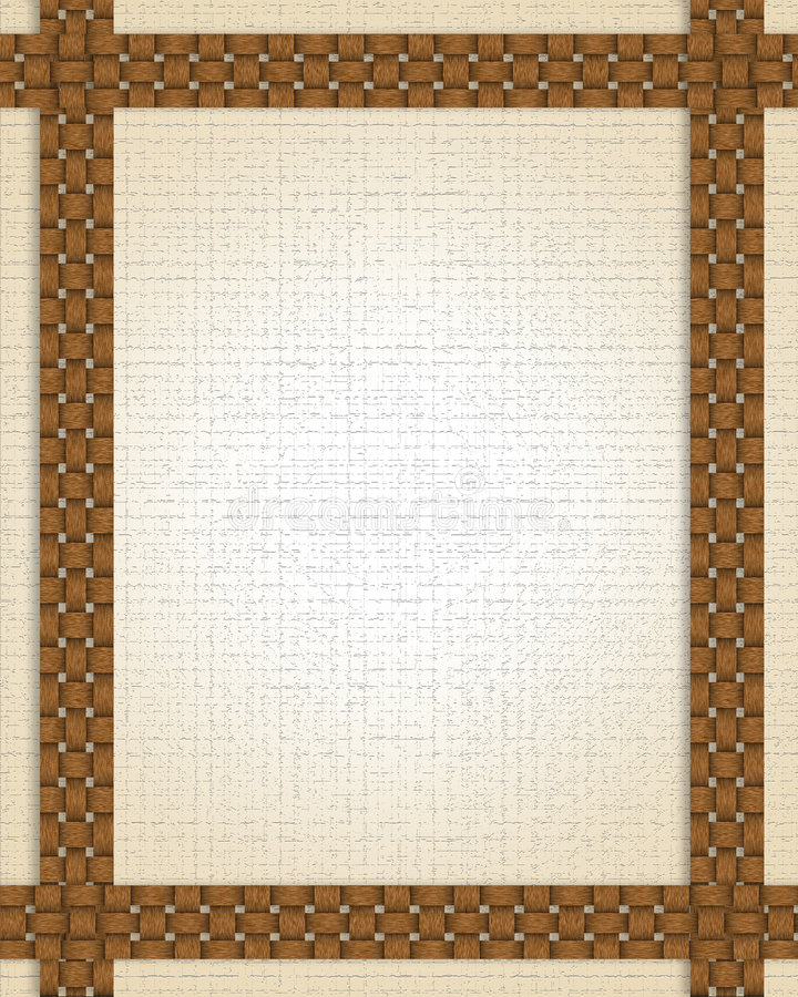 Trame ou cadre d'armure de panier illustration stock