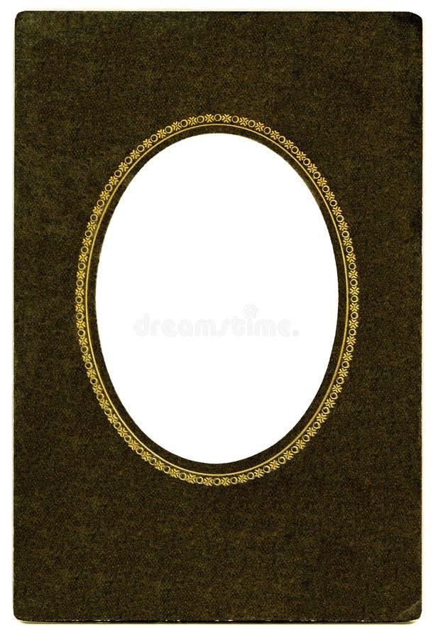 Trame ovale antique photographie stock libre de droits