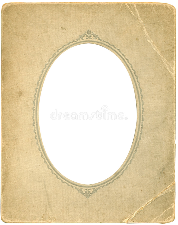 Trame ovale antique image stock