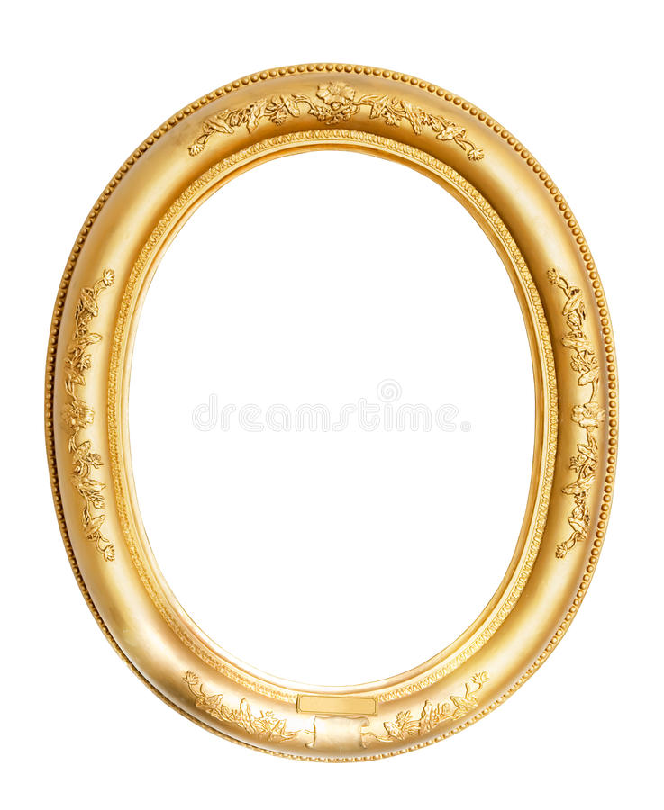 Trame ovale d'or images stock