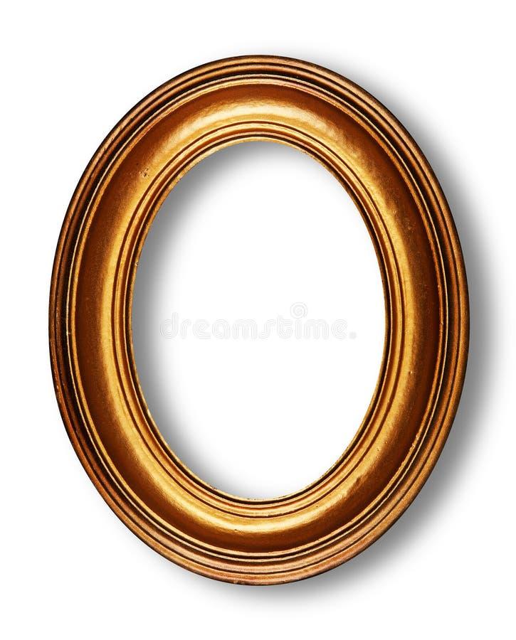 Trame ovale d'or photographie stock libre de droits