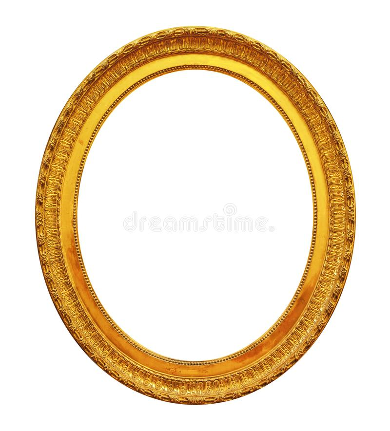 Trame ovale d'or photos stock