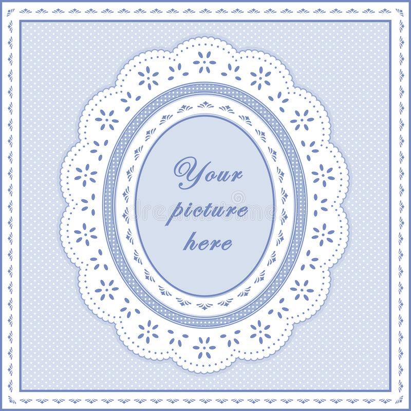 trame ovale de bleu de chéri de +EPS, fond sans joint illustration stock