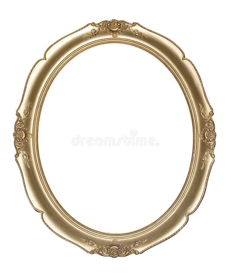 Trame ovale de photo (chemin de découpage) photographie stock