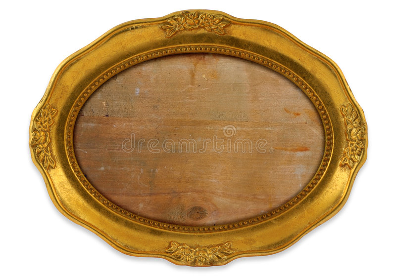 Trame ovale dorée image stock