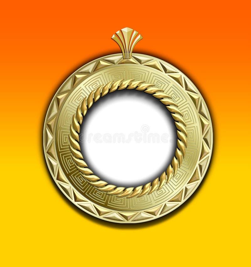 trame ronde d'or de cru illustration de vecteur