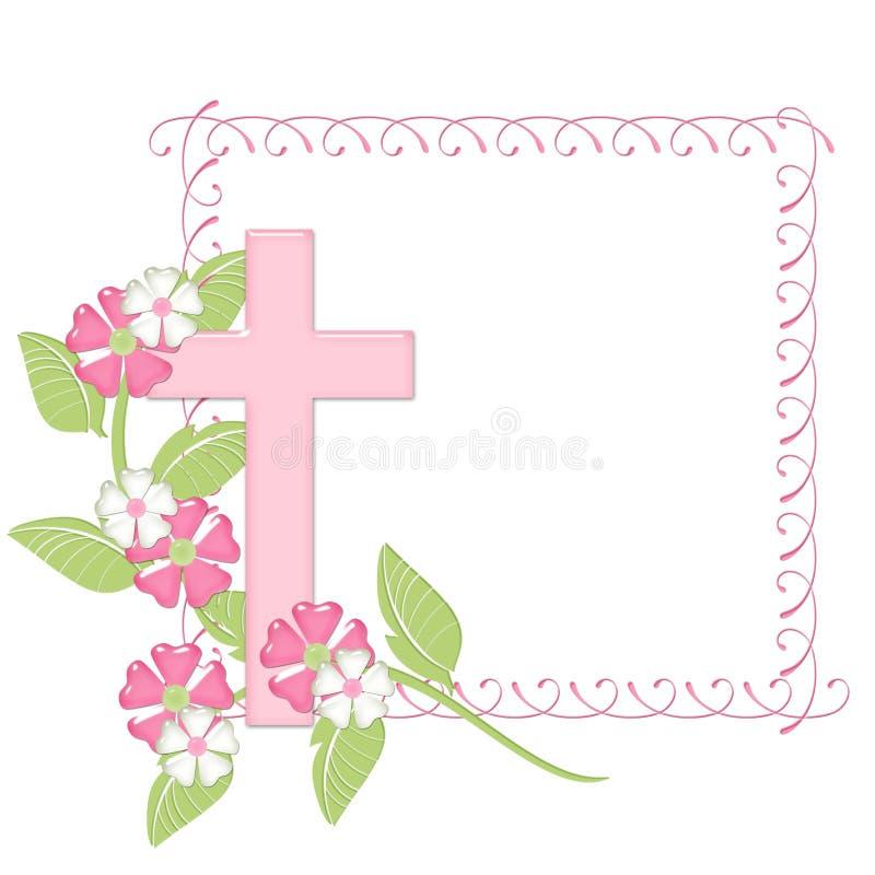 Trame rose avec la croix rose illustration libre de droits