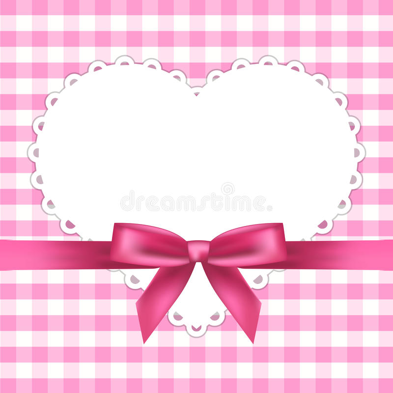 Trame rose avec le coeur illustration stock