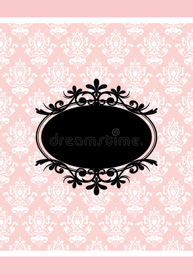 Trame rose et noire illustration stock