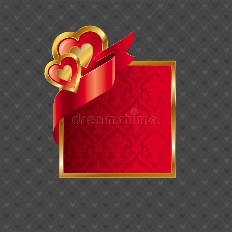 Trame rouge de coeur de Valentine illustration stock