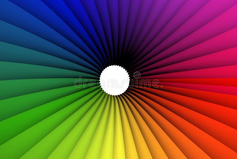 Trame roundish colorée illustration de vecteur