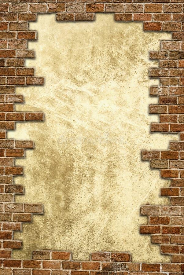 Trame sale de mur de briques images libres de droits