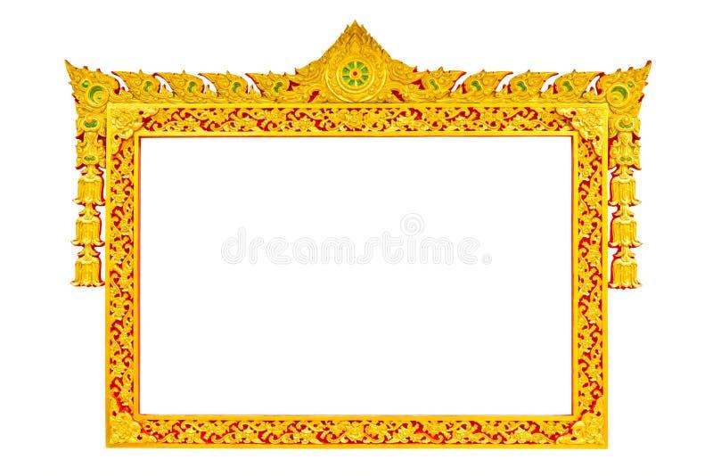 Trame thaïe antique de sculpture en type photo stock